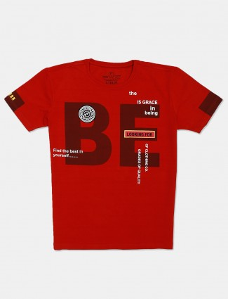 Stride presented printed red t-shirt
