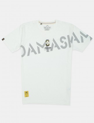 Stride printed white casual t-shirt