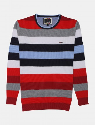 Stride red mens stripe style t-shirt