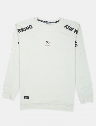 Stride white casual t-shirt