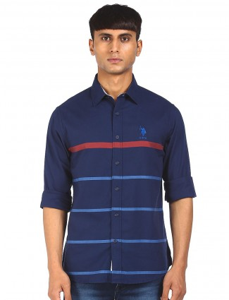 Stripe style navy shirt from US POLO