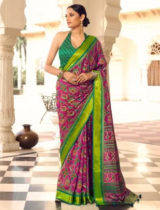 Stunning Purple wedding occasions patola silk saree