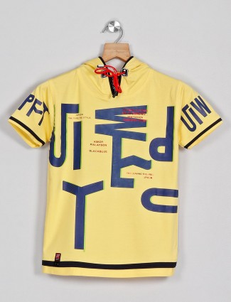 Sturd cotton printed t-shirt in yellow