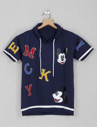 Sturd navy printed casual wear boys t-shirt