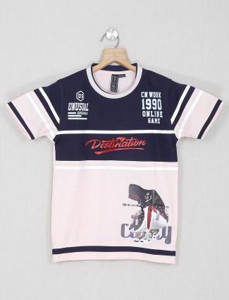 Sturd pink cotton printed t-shirt