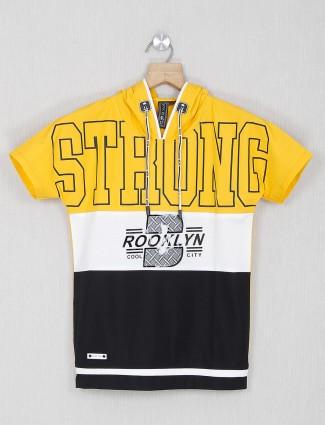 Sturd yellow printed casual t-shirt