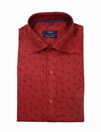 TAG maroon hue full sleeves shirt