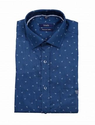 TAG presented blue printed shirt
