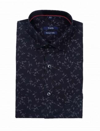 TAG printed black hue formal shirt