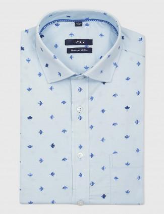 TAG skuy blue hued mens printed shirt