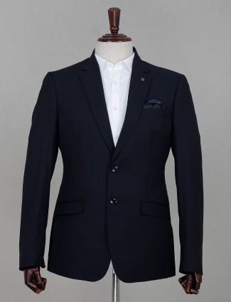 Terry rayon blazer for men in navy
