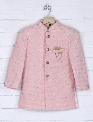 Terry rayon pink hue designer indo western