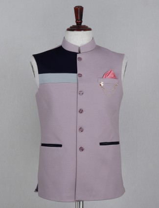 Terry rayon solid onion pink waistcoat