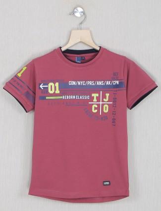 Timbuktu presented printed onion pink t-shirt