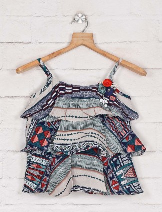 Tiny Girl green printed casual wear top