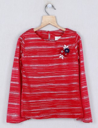 Tiny Girl maroon stripe casual cotton top
