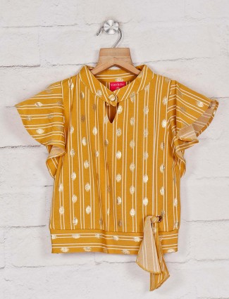 Tiny Girl mustard yellow stripe top for casual wear
