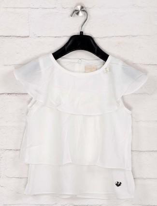 Tiny Girl presented white cotton top