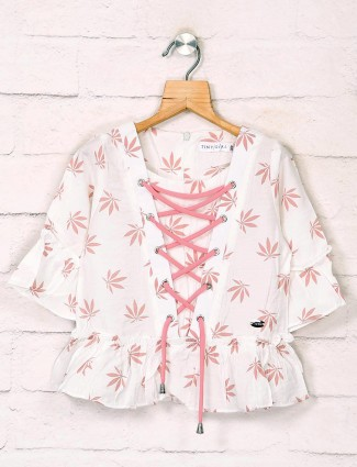 Tiny Girl white printed top in casual