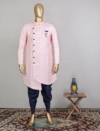 Trending pink indo fusion sherwani for mens