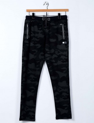 TYZ green cotton track pant for mens