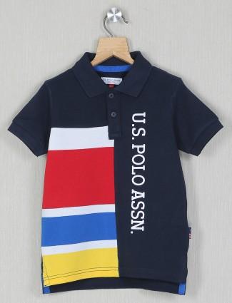 U.S. Polo Assn navy tint printed t-shirt