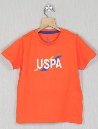 U.S. Polo Assn printed orange shade t-shirt for boys