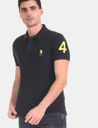 U S Polo Assn solid black t-shirt