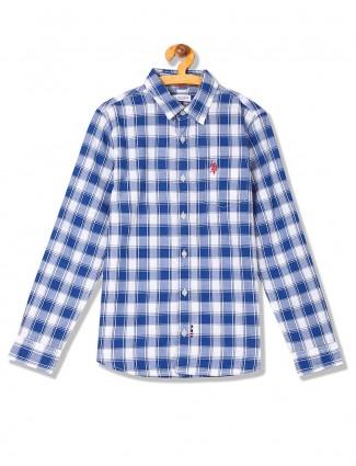 U S Polo blue hue checks casual shirt