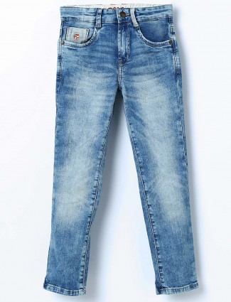 U S Polo washed blue slim fit jeans
