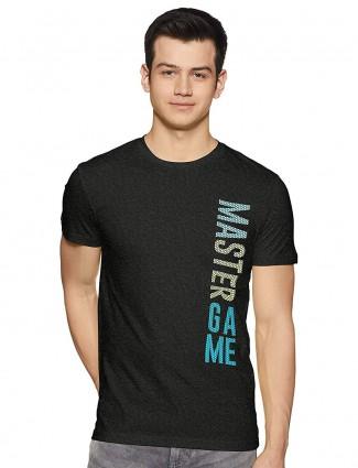 UCB black printed cotton t-shirt