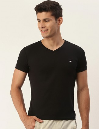 UCB cotton black t-shirt for casual  look