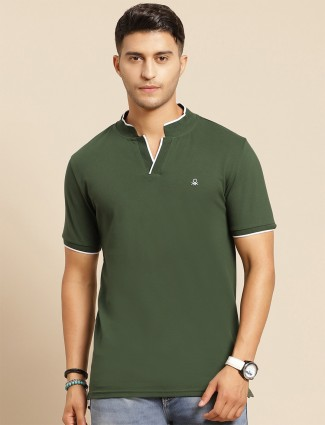 UCB green t-shirt in grey for men