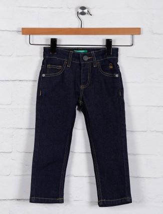 UCB navy denim solid jeans