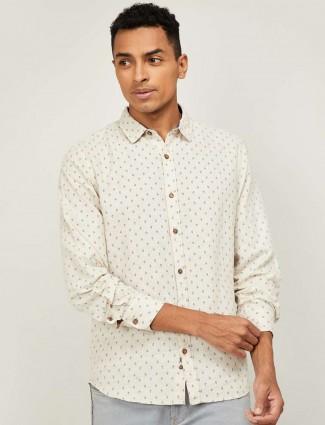 UCB off white linen casual shirt