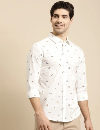 UCB presented printed white casual shirt