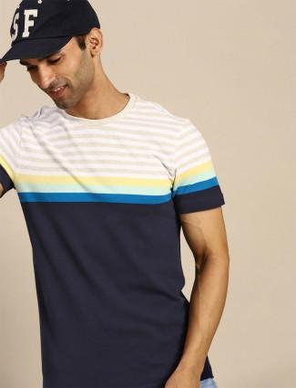 UCB solid navy hue mens casual shirt