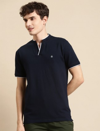 UCB solid style cotton t-shirt in navy