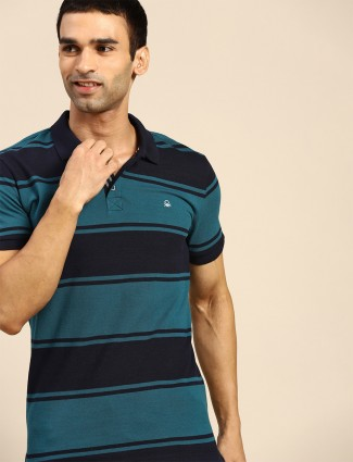 UCB stripe style cotton t-shirt in green