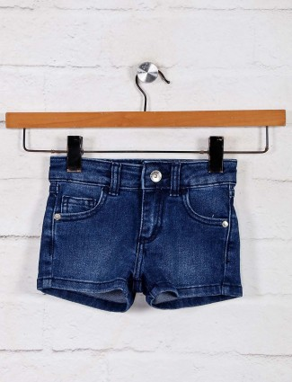 UCB washed navy casual outing denim shorts