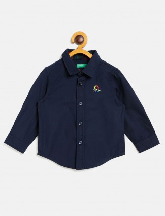United Colors of Benetton navy solid shirt