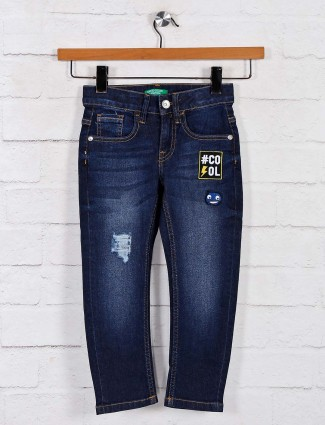 United Colors of Benetton navy washed boys jeans