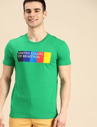 United Colors of Benetton printed green t-shirt