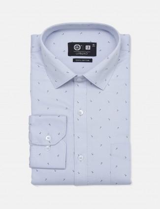 Urbano printed blue printed shirt