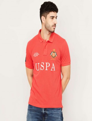 US Polo casual T-shirt in Orange