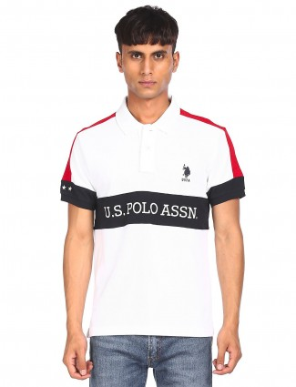 US POLO cotton t-shirt in white
