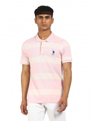 US Polo presented baby pink cotton t-shirt