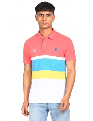 US Polo presented printed pink t-shirt