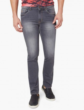 US Polo washed blue denim for casual sessions