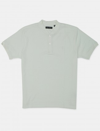 Van Hausen solid style mens cotton casual t-shirt